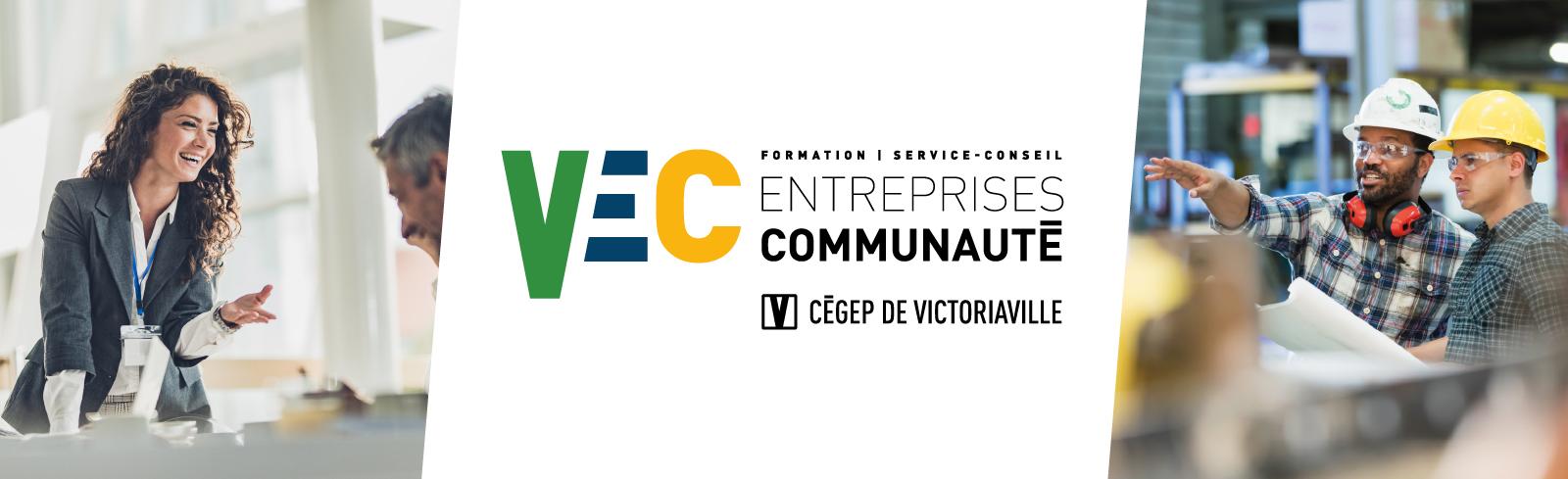 Image d'entête de la composante VEC Entreprises et communauté avec logo